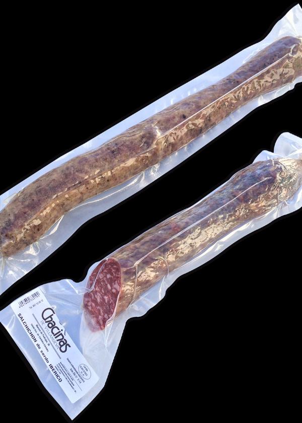 Salchichón cular Ibérico de Bellota envasado al vacío_Chacinas de Villanueva